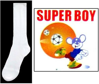 Boys Nylon White Dress Socks - Sizes: S-M-L  1 Pair or 12 Pairs Lot  (00020W ^*)