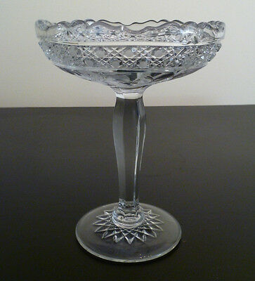Antique Edwardian pressed glass compote, McKee  INNOVATION 1917