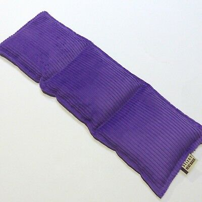 Wheat Pack Heat Bag 3 sectioned PURPLE-  42 x 14cm FREE POST