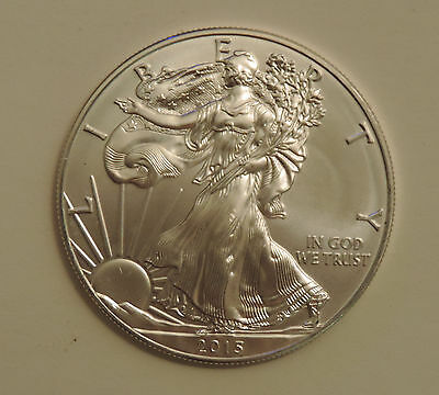 2015 1 oz silver American eagle dollar mint state great luster one ounce .999