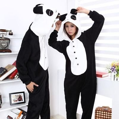NEW  Onesie Unisex Adult Pajamas Kigurumi Cosplay Costume Animal Sleepwear Panda