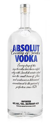 Absolut Vodka Blue 4.5 Litre Bottle