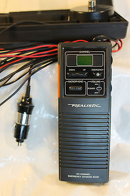 Realistic Emergency Cb Radio 40 Channel Trc-409 Transceiver Mobile