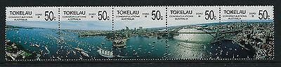 1988 Tokelau Australia Bicentenary & Sydpex '88 Strip Of 5 Fine Mint Mnh/muh