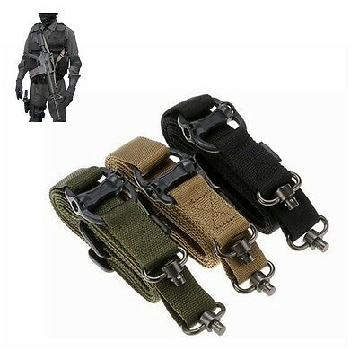 Quick Release AR AK Rifle 2 Point Multi Tactical Sling Strap w/Metal Buckle New