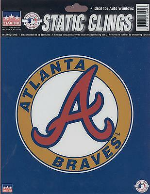 12 Atlanta Braves 6 inch Static Cling Stickers