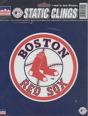 12 Boston Red Sox 6 inch Static Cling Stickers