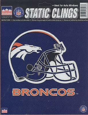 12 Denver Broncos 6 inch Static Cling Stickers