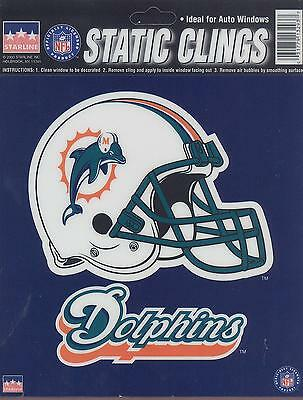 12 Miami Dolphins 6 inch Static Cling Stickers