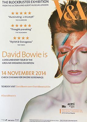 Promotional Flyer - V & A David Bowie Is... Documentary Tour Film 2014