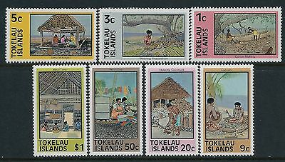 1981 Tokelau Definitive Reprints Set Of 7 Fine Mint Mnh/muh