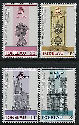 1978 TOKELAU 25th ANNIVERSARY OF QEII CORONATION SET OF 4 FINE MINT MNH/MUH