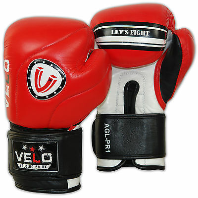 VELO Boxing Gloves MMA Fight Adult Sparring Pads Punch Bag Kick Training