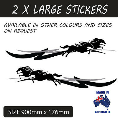 Large Horse Float Pin Stripe Sticker Decal Ute,4Wd , Trailer Style 8