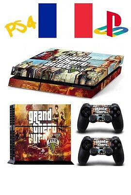 skin cover gta 5 controller manette ps4 sony playstation stickers