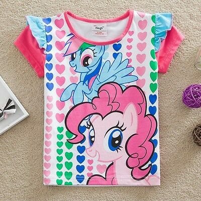 My Little Pony Girls Short Sleeved Top, Cotton, Sizes 2 - 6