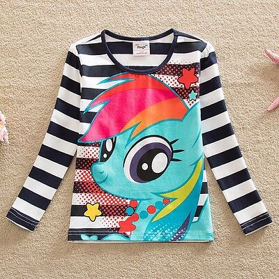 My Little Pony Girls Long Sleeved Printed Top, Cotton, Sizes 4 - 8