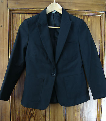 Girls Lined Black Smart/dinnerjacket Age 10 Years By Tu Polyester £7 Delivered