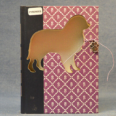 Great Pyrenees Upcycled Book - 002