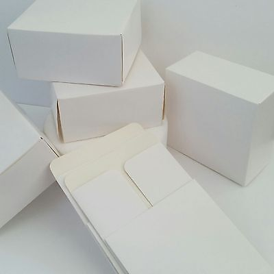 """6""""inch WHITE CAKE BOXES SQUARE Food Treat Sweets Gift Festive CHRISTMAS COOKIES"""