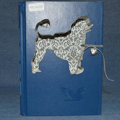 Portuguese Water Dog Upcycled Book - 003