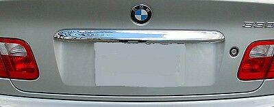 CHROME FINISH BOOT LID HANDLE COVER FOR BMW E46 3 SERIES SALOON 2002-2005 v2