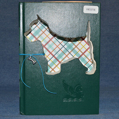 West Highland Terrier Upcycled Book - 007