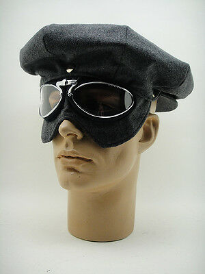 NEW CAP & GOGGLES Aviator Pilot Driving Racer Car Motorcycle Aviation Vintage