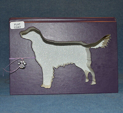 Flat-Coated Retriever Upcycled Book - 002