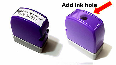 Custom Made Self Ink/Pre Ink Stamp Size 8 x 26mm (REFILL) Mini.Size