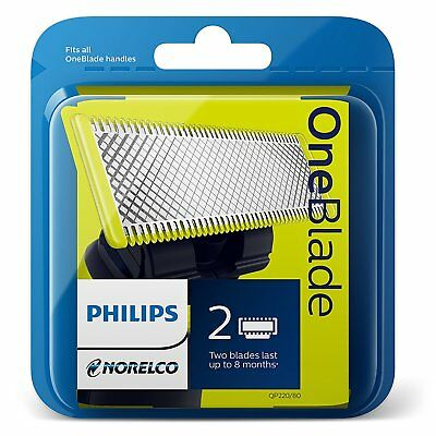 Philips Norelco OneBlade 2-CARTRIDGES REPLACEMENT BLADE f/ TRIMMER SHAVER QP2520