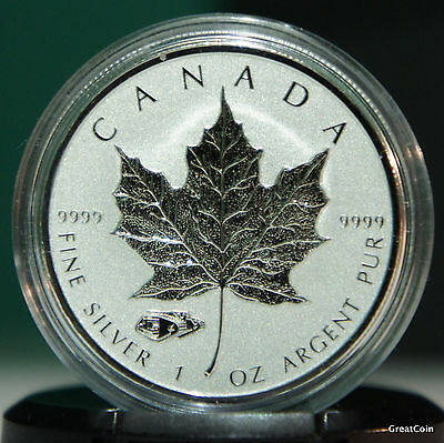 2016 1 Oz Silver Maple Leaf Mark V TANK Privy Reverse Proof -  FREE CAPSULE