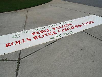 18 Foot hand painted Vinyl Street Banner Rebel Region Rolls Royce Helen GA