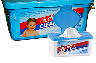 "Nice and Clean Baby Wipes Scented 7"" x 8"" Part No. M225XT Qty 1"