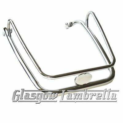 Vespa PX / LML Scooter POLISHED STAINLESS STEEL TWIN FRONT MUDGUARD BUMPER