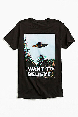 "X Files ""I Want to Believe"" Shirt Black Mulders Office"