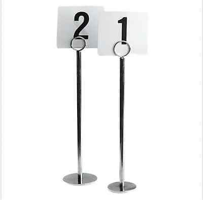 24 x 300mm Table Number Menu Name Holder Stands 70mm Heavy Base & Numbers
