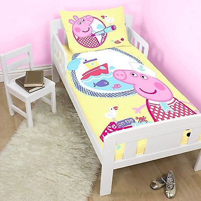 Peppa Pig Cot Toddler Doona Duvet Quilt Cover, Peppa  Express Postage