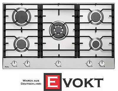 Amica KMG13167E Built In 90 cm Gas Hob Stainless Steel 5 Burners Cooktop Genuine