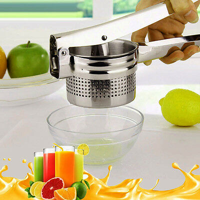Kitchen Bar Stainless Steel Citrus Orange Juicers Lemon Lime Hand Press Squeezer