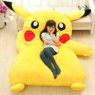 New Cute Huge Giant Filled Pikachu Bed Carpet Tatami Mattress Sofa Great gift