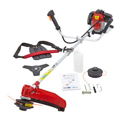 New 43cc Petrol Power Grass Trimmer Brush Cutter 2 Stroke 1.25KW 1.7HP