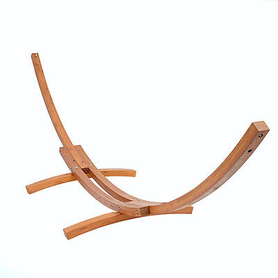 Outdoor Garden Wooden Wood Arc Frame for Double Hammock