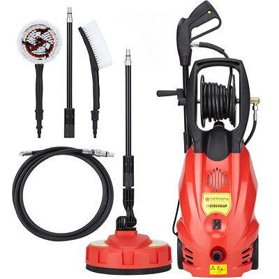 2400W Pressure Washer Jet Power Wash 165 Bar Pump Patio Cleaner + Accessories