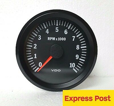 VDO COCKPIT VISION TACHO-METER 12V 80mm  10,000 RPM AUTOMOTIVE 333015046