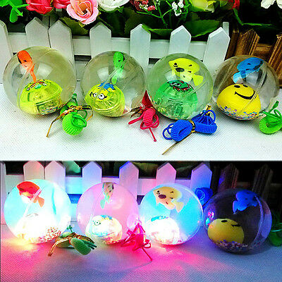 Soft Rubber LED Jumping Ball Bouncy Bouncing Light Balls Kids Toy Party H6TG