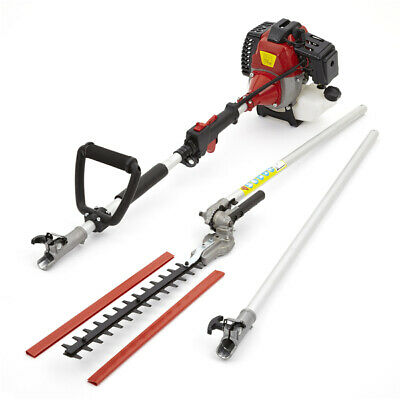 52cc Petrol Long Reach Hedge Trimmer Garden Tool 3HP Extension Pole Cutter 2.2KW