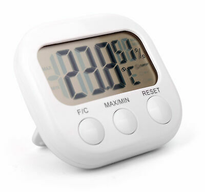 Quad (4x) Pack of Indoor Thermometers / Temperature Gauges with Digital Display