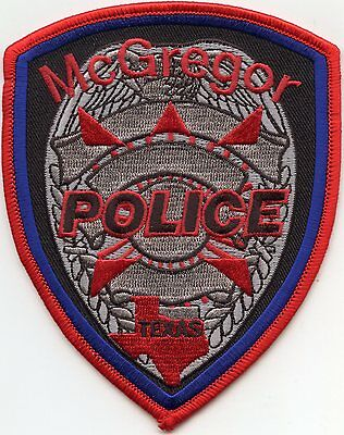 McGREGOR TEXAS TX POLICE PATCH
