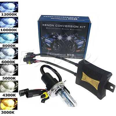 55W HID H4 Hi/Lo Dual Beam Bi-Xenon Motorcycle Bulb Headlight Conversion Kit